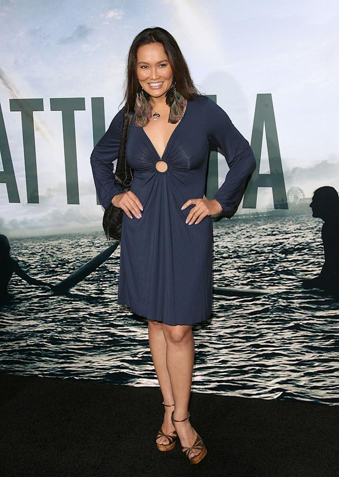 """<a href=""""http://movies.yahoo.com/movie/contributor/1800019767"""">Tia Carrere</a> at the Los Angeles premiere of <a href=""""http://movies.yahoo.com/movie/1810119633/info"""">Battle: Los Angeles</a> on March 8, 2011."""