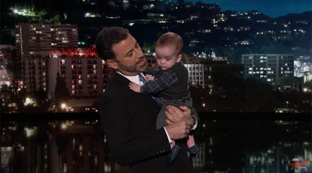 Jimmy Kimmel bought his son out during his opening monologue before making his tearful plea. Source: Jimmy Kimmel Live!