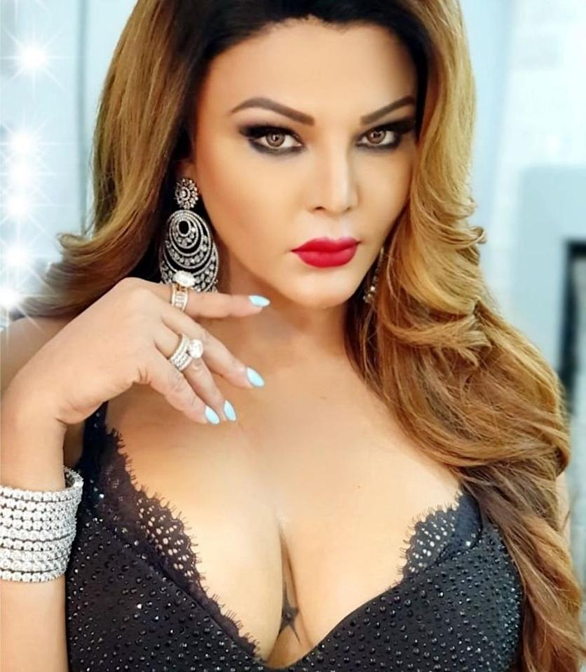 <em>Rakhi Sawant</em>: Bollywood's drama queen Rakhi Sawant shocked everyone when she came out in open and admitted about her breast implants. (Image: Instagram)