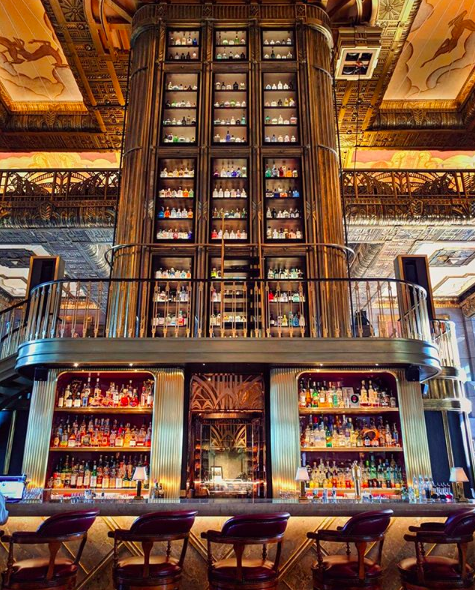 <p>The bar's lavish decor pays tribute to the 1920's Asian scene where all things totally OTT. The leather bar stools, marble tables and velvet carpet mean the bar oozes old school glamour. Boasting the world's largest gin collection (1,011 bottles), we recommend treating yourself to a G&T, or two, or even three.<br />Source: Instagram @godsavethepoints </p>