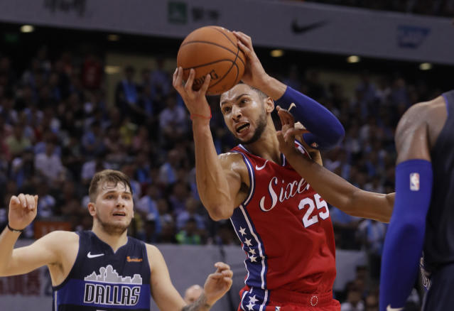 "It's safe to say <a class=""link rapid-noclick-resp"" href=""/nba/players/5600/"" data-ylk=""slk:Ben Simmons"">Ben Simmons</a> will have his fourth-year option exercised. (AP)"