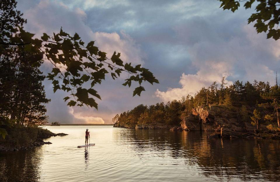 """<p><a href=""""https://www.nps.gov/voya/index.htm"""" rel=""""nofollow noopener"""" target=""""_blank"""" data-ylk=""""slk:Voyageurs National Park"""" class=""""link rapid-noclick-resp""""><strong>Voyageurs National Park</strong></a></p><p>If you are into kayaking, canoeing, paddleboarding, or camping, head to to Northern Minnesota for this park (most easily accessible by boat), which is nestled along the border of Canada. </p>"""