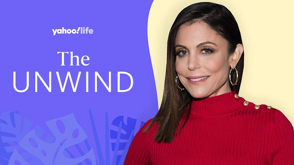 Bethenny Frankel gets down to business with The Unwind. (Photo: Getty Images; designed by Quinn Lemmers)