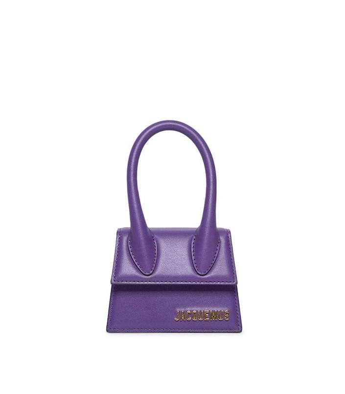 """<p><strong>Jacquemus</strong></p><p>ShopBAZAAR.com</p><p><strong>$550.00</strong></p><p><a href=""""https://go.redirectingat.com?id=74968X1596630&url=https%3A%2F%2Fshop.harpersbazaar.com%2Fdesigners%2Fjacquemus%2Fle-chiquito-bag-purple-70763.html&sref=https%3A%2F%2Fwww.harpersbazaar.com%2Ffashion%2Ftrends%2Fg35555954%2Ffall-2021-bag-trends%2F"""" rel=""""nofollow noopener"""" target=""""_blank"""" data-ylk=""""slk:Shop Now"""" class=""""link rapid-noclick-resp"""">Shop Now</a></p><p>There is now a stylish solution to the difficult reality of attempting to squeeze everything into a microbag. Why not just wear two at once? Keys, phone, wallet, check!</p>"""