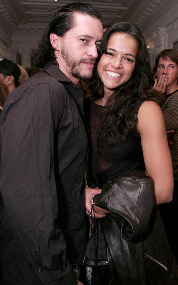 "Clifton Collins Jr. and Michelle Rodriguez pose cheek to cheek. Chris Weeks/<a href=""http://www.wireimage.com"" target=""new"">WireImage.com</a> - May 31, 2007"