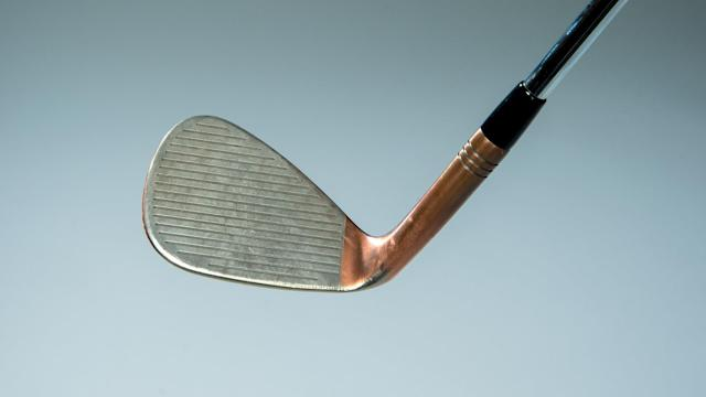 The 52- and 56-degree are standard, but I shaved bounce off the Hi-Toe (<em>pictured</em>). That wide sole with low bounce in front makes it easier to get under the ball for any lie.