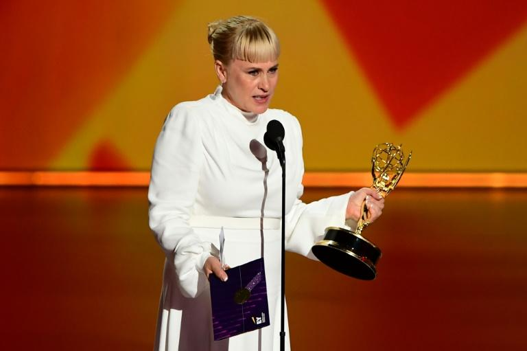 Patricia Arquette made an impassioned plea for acceptance of transgender people in her Emmys victory speech -- her transgender sister Alexis died in 2016 (AFP Photo/Frederic J. BROWN)