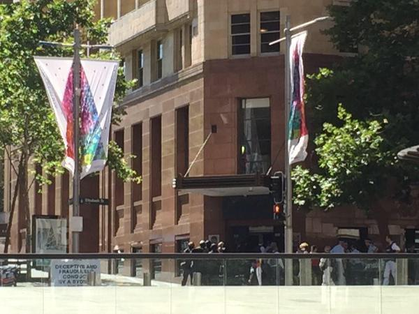 NSW Public Order and Riot Squad Police outside the Lindt cafe on December 15, 2014. Source: AAP