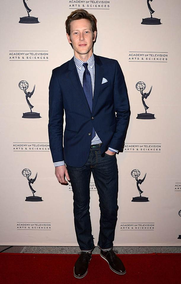 "Gabriel Mann arrives at the Academy of Television Arts & Sciences Presents An Evening With ""Revenge"" at the Leonard H. Goldenson Theater held at the Academy of Television Arts & Sciences on March 4, 2013 in North Hollywood, California."