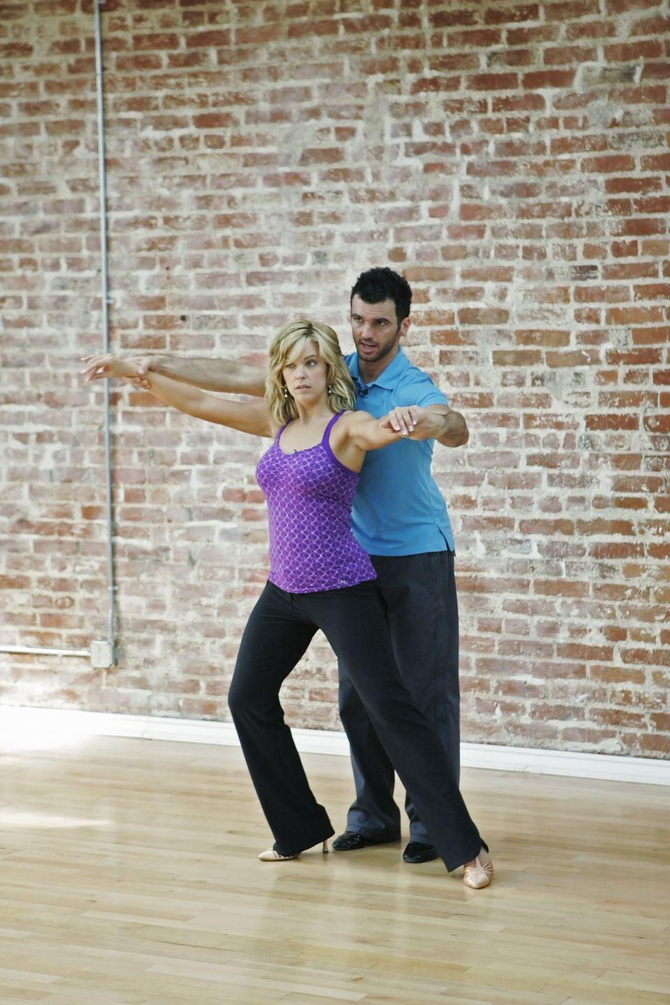 <p>Kate and her partner Tony Dovolani had a lot to overcome in season 10. The professional dancer threatened to quit because of how difficult the mom of eight was to work with. You could tell in their routines just how bad their chemistry was. Kate ended up getting kicked off during week 5.</p>