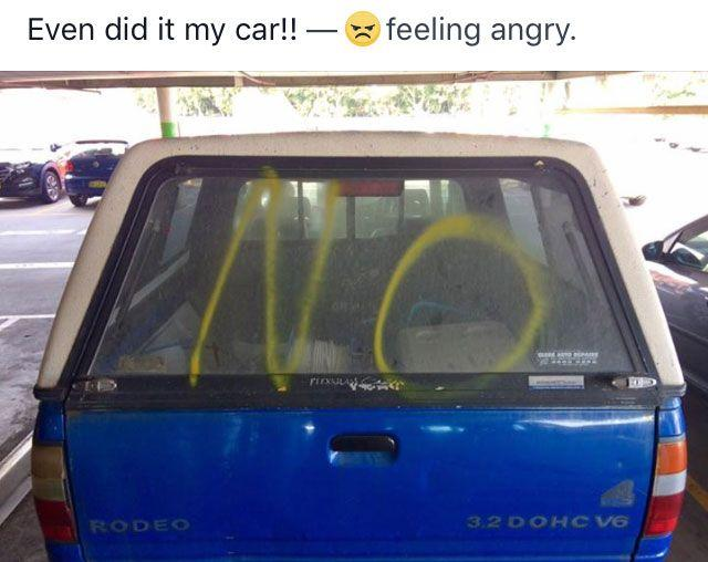 The owner of this car took to Facebook saying he was