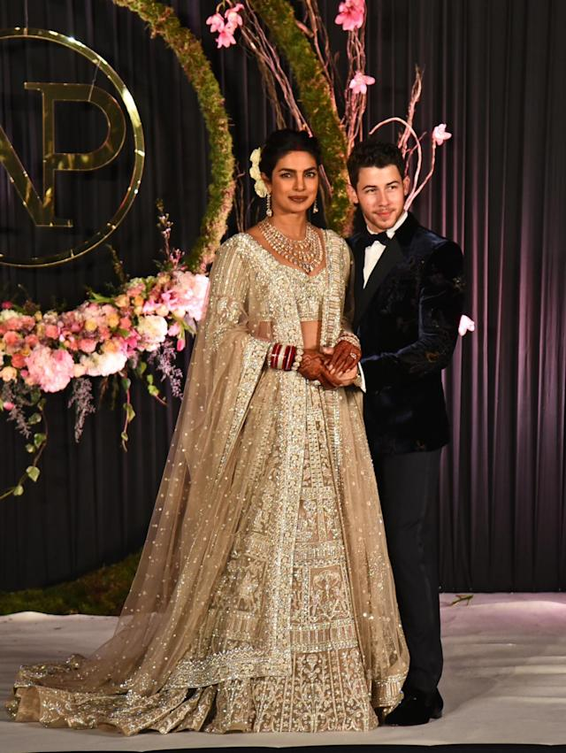 Married: Priyanka Chopra and Nick Jonas' union was criticised in a now-deleted post (SplashNews.com)