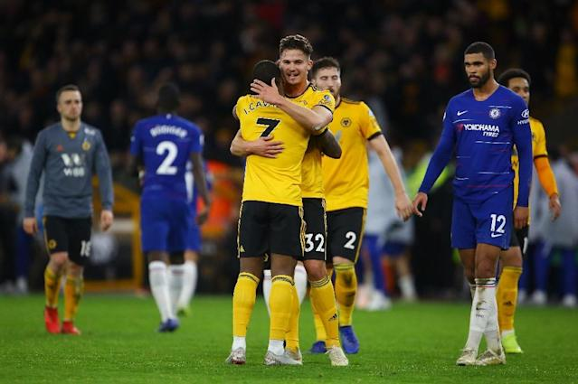 Chelsea's defeat against Wolves was their second in three matches (AFP Photo/GEOFF CADDICK)