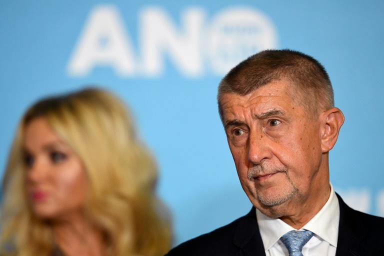 The Pandora Papers investigation undermined Czech PM Andrej Babis (R) in the final stretch of the election campaign (AFP/JOE KLAMAR)