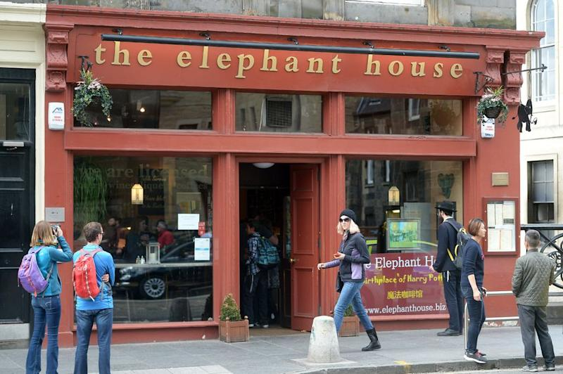 """J.K. Rowling wrote the """"Harry Potter"""" series in a number of locations, but perhaps the most famous is The Elephant House cafe in Edinburgh, Scotland."""