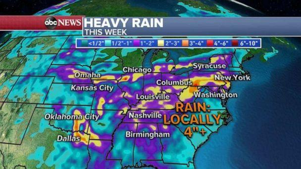 PHOTO: Some spots could see 4 inches of rain this week. (ABC News)