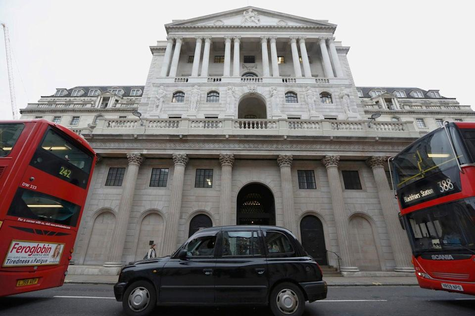 <p>The Bank of England hiked economic forecasts</p> (Luke MacGregor/Reuters)
