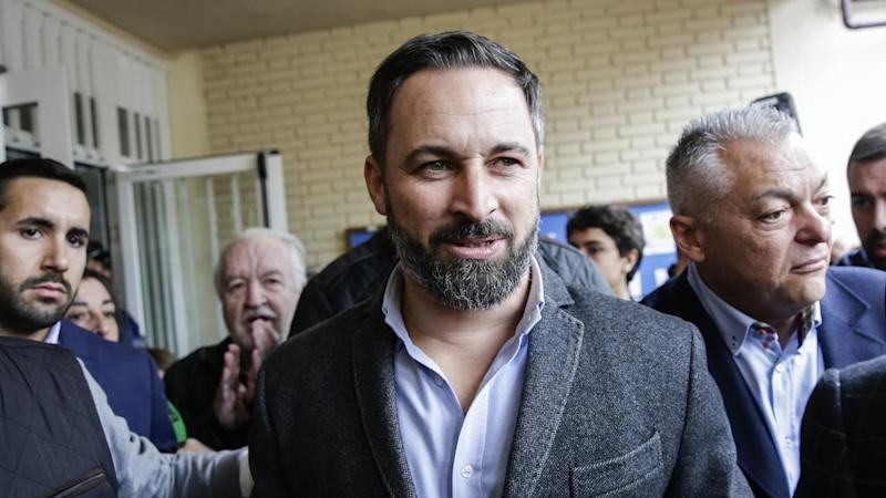 Santiago Abascal's Vox Party has won more seats in Spain's polls but trails the ruling Socialists