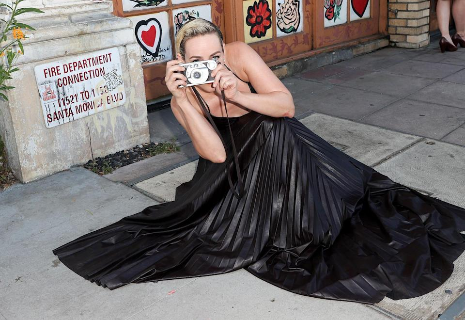<p>Jena Malone snaps photos at the premiere of Vertical's <em>Lorelei</em> at Laemmle Royal on July 28 in L.A.</p>