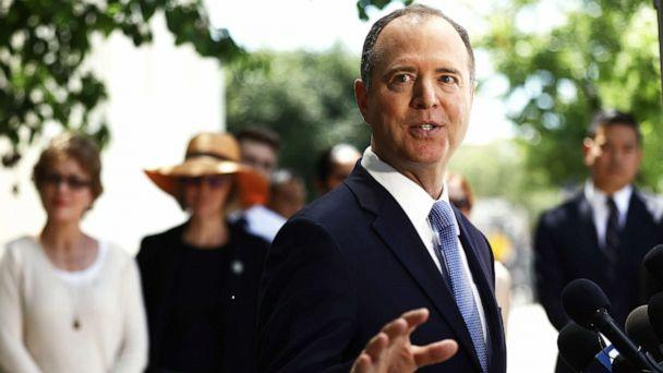 PHOTO: Chairman of the House Intelligence Committee Adam Schiff speaks at a press conference discussing release of the redacted Mueller report on April 18, 2019 in Burbank, Calif. (Mario Tama/Getty Images)