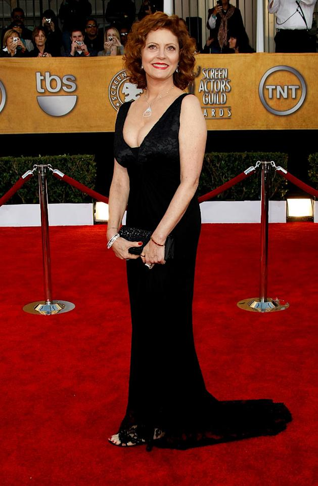 "<a href=""/susan-sarandon/contributor/29830"">Susan Sarandon</a> arrives at the <a href=""/the-15th-annual-screen-actors-guild-awards/show/44244"">15th Annual Screen Actors Guild Awards</a> held at the Shrine Auditorium on January 25, 2009 in Los Angeles, California."