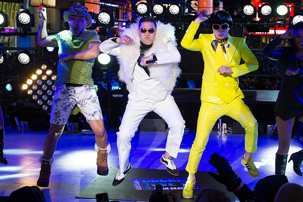 NEW YORK, NY - DECEMBER 31:  Musician Psy performs during New Year's Eve 2013 In Times Square at Times Square on December 31, 2012 in New York City.  (Photo by Michael Stewart/WireImage)