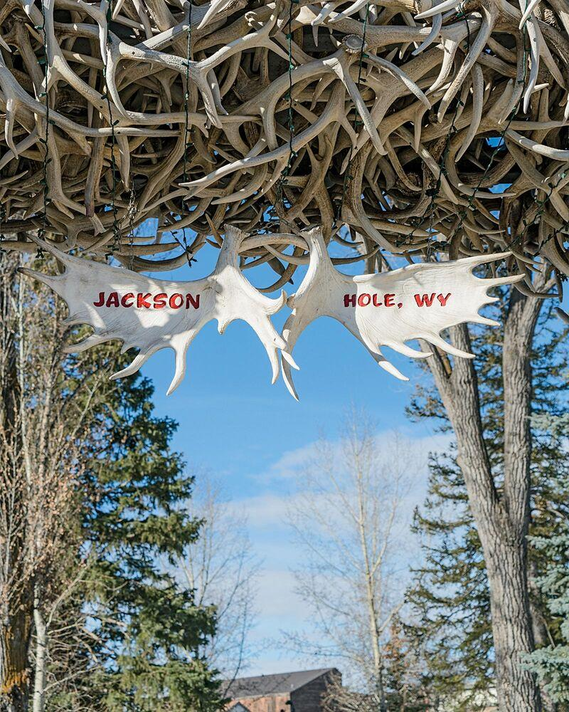 The antler gate in Jackson's town square. | The Ingalls