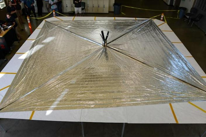The LightSail 2 spacecraft sits on its deployment table in this image released by the Planetary Society (AFP Photo/Jason Davis)