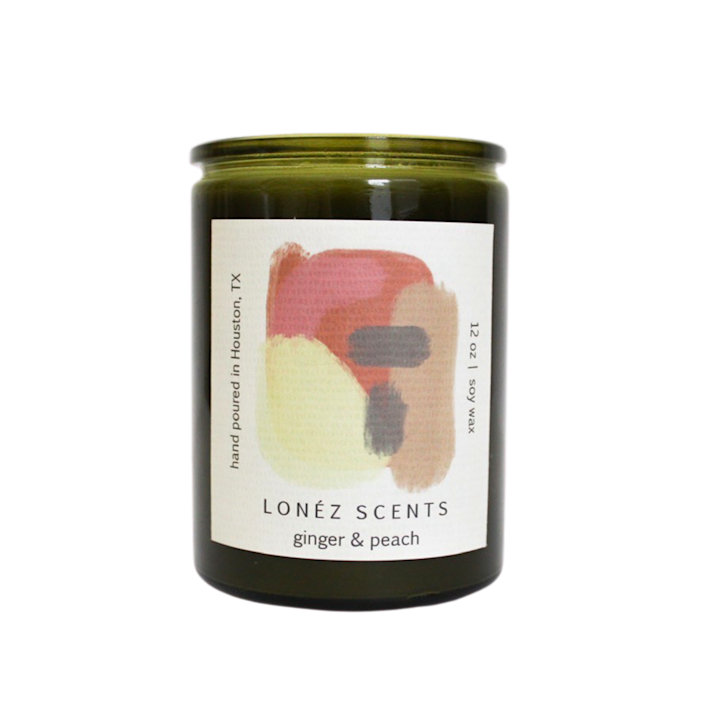 """Lonez Scent's Ginger Peach candle brings a bit of spice to the sweetness with bottom notes of saffron, musk, and amber. $28, Lonez Scents. <a href=""""https://lonezscents.com/products/ginger-peach?utm_content=Facebook_UA&variant=32987821080685&utm_source=IGShopping&utm_medium=Social"""" rel=""""nofollow noopener"""" target=""""_blank"""" data-ylk=""""slk:Get it now!"""" class=""""link rapid-noclick-resp"""">Get it now!</a>"""