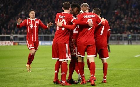 "Bayern Munich won 3-1 on Tuesday to deal Paris Saint-Germain its biggest defeat of the season but still had to settle for second place behind the French team in their Champions League group. Bayern lost the previous meeting 3-0 in Paris - a defeat that cost Carlo Ancelotti his job as manager - and needed to beat PSG by four goals to finish top of Group B. Both sides were already assured of progress to the last 16. Robert Lewandowski got Bayern off to a flying start after Kingsley Coman headed James Rodriguez's cross towards goal. The Poland striker needed no second invitation for his third goal of the campaign. The home side assumed control, though Kylian Mbappe and Neymar showed glimpses of their considerable talent. The Brazilian should have done better when Mbappe sent him through with a brilliant pass. James crossed for Corentin Tolisso to double Bayern's lead before the break. Corentin Tolisso scored twice on the night Credit: AFP Bayern needed just two more in the second half to top the group, but Mbappe dented those hopes soon after the break when Edinson Cavani lifted the ball for the 18-year-old to head past Sven Ulreich in the Bayern goal. Coman burst through to set up Tolisso's second goal midway through the half. It was enough to restore the home side's pride, albeit not enough to top the group. Both sides finished with 15 points, well ahead of Celtic and Anderlecht, both on three. Anderlecht won 1-0 in Glasgow but Celtic finished third to take the Europa League place. 9:40PM Full-time There's a late scramble as Cavani and then Neymar try and bundle the ball him. Moments later Mbappe is denied by a brilliant Ulreich save as he looks to convert Neymar's cross from close range. Lewandowski then makes a mess of a one on one as he mistakenly tries to chip Areola and ends up sky-ing the chance. But the final whistle goes, and it finishes Bayern Munich 3 PSG 1. PSG top Group B on the head to head rule. Corentin Tolisso makes it 3-1 Credit: Getty Images 9:36PM 90 min PSG make a change - Lo Celso on for Draxler, who has impressed with his industry tonight. Three minutes of time added on. 9:34PM 88 min Bayern spring PSG on the break, but Rafinha waits and waits and in the end his pull-back from the left is blocked for a corner. Eventually the visitors get the ball clear. 9:31PM 85 min Bayern sub: Rafinha, who has a similarly bleached bob as Lewandowski, replaces Alaba. 9:28PM 83 min Bayern sub: James, who has been outstanding, is replaced by Vidal. James Rodriguez Credit: Getty Images 9:27PM 82 min Draxler picks up a yellow for chopping down Lewandowski. 9:27PM 81 min Mbappe has a shot deflected wide from the edge of the box by Sule before Marquinhos attempts a bicycle kick from the resulting corner that's a few yards over. 9:24PM 78 min Ulreich channels the man he is deputising for and comes charging off his line to head the ball away with Neymar bearing fown on him. Even Manuel Neuer himself would have been proud of that bit of 'sweeper keeping'. 9:21PM 76 min Marquinhos could easily pick up a second booking for blocking off Coman, but he gets away with a quiet word. Corentin Tolisso celebrates scoring for Bayern Credit: AFP 9:19PM 73 min Bayern hoping for a penalty but Tolisso instantly admits there was nothing in it after he goes down anticipating a challenge that never comes from Areola. 9:18PM 72 min For that penalty shout by the way, it looks as though Cavani did slip and the referee made the right call. And now another blow for PSG...their captain Silva is limping off with a calf injury to be replaced by Kimpembe. 9:16PM GOAL! Bayern Munich 3 PSG 1 (Tolisso 69') Brilliant work down the left from Coman, who skins Alves and then pulls the ball back perfectly for the onrushing Tolisso to stroke home his second of the night. Bayern need two goals again to top Group B. FC Bayern 3 - 1 Paris SG (Corentin Tolisso, 69 min) 9:12PM 66 min Huge decision from the referee Cuneyt Cakır as Cavani goes down in the area under challenge from Hummels. Cakır adjudges Cavani to have slipped, and says no penalty. That looks to be the correct call but for some reason no replay is being shown. The outstanding Ribery, who is only recently back from injury, is replaced by Muller. 9:07PM 62 min Big chance PSG! Neymar slaloms his way past a few limp Bayern tackles, and eventually the ball works its way to Draxler, whose shot is tame and straight at Ulreich. Mbappe then smashes a volley from the edge of the area that the Bayern keeper paws to safety. Bayern on the brink here. Attempt Saved: FC Bayern 2 - 1 Paris SG (Kylian Mbappe, 61 min) 9:04PM 59 min All of a sudden it's PSG who are snapping into challenges, and looking the hiungrier side. Coman is crowded out for Bayern, and the visitors get on the front foot again. 9:01PM 56 min Nearly the equaliser for PSG. Neymar threads a sensational pass through to Mbappe, who just overruns the ball and then fails to pick out Cavani and Kurzawa. Kylian Mbappe pulls one back for PSG Credit: AFP 8:59PM 54 min Rudy picks up a deserved booking for cynically body-checking Rabiot as the Frenchman tries to break clear around the half-way line. I quite fancy PSG to get something from this game now. 8:56PM GOAL! Bayern Munich 2 PSG 1 (Mbappe 50') What a goal that is. Verratti clips a pass to Cavani, who despite being in the area has the time to kill the ball and then scoop a pass for Mbappe to run onto and head home. Wow, that was like something from a game of 'headers and volleys'. Bayern need three goals now to top Group B. FC Bayern 2 - 1 Paris SG (Kylian Mbappe, 50 min) 8:52PM 47 min Neymar has an absolute shocker as he cuts inside Sule and then shanks his shot so far wide it almost hits the corner flag. 8:50PM 46 min We're back under way in Munich. 8:39PM First-half summary It looked like the impossible job before the start of the match, but it could yet be on. At half-time, Bayern are halfway towards their target of winning by four goals to top Group B. And if anyone can clutch defeat from the jaws of victory, it's this PSG team. Seven months ago of course, even a 4-0 first leg lead was not enough to see them home against Barcelona. Tonight, Bayern have been superb. James and Ribery have ran the show, while Rudy, Tolisso and Kimmich have eclipsed PSG's vaunted central midfield pairing of Rabiot and Verratti. PSG meanwhile have been leaden-footed and sluggish, with that Neymar chance the only thing of note they've done all game. With him, Mbappe and Cavani in the team they are always liable to score, but at present it's so far, so good for the hosts. FC Bayern vs Paris SG shots on goal 8:33PM Half-time The half ends with Draxler having a pop from 25 yards that's easily saved by Ulreich. After 45 minutes it's Bayern Munich 2 PSG 0. 8:32PM 45 min Superb defending from the captain Ribery, who tracks back all the way into his own box and heads away Mbappe's dangerous cross. Leading by example. 8:30PM 43 min Nervy moment for the Bayern goalkeeper Ulreich as he fumbles Neymar's speculative shot from the edge of the box. Thankfully for the keeper, the ball dribbles wide of goal. 8:29PM 41 min And now it's all kicking off! There's mayhem in the PSG box as the ball is looped into the air from a James cross. Tolisso brushes Dani Alves to the ground, which Marquinhos takes exception to. In the end Tolisso and Marquinhos get pretty soft bookings. Not a lot in all that. 8:25PM GOAL! Bayern Munich 2 PSG 0 (Tolisso 37') Oh that is an absolutely stunning cross from Rodriguez. The Colombian whips a ball in from the left that hangs up perfectly for Tolisso to stride onto and bury a header home from about eight yards out. It's on! Just two more goals needed now for Bayern to top the group. FC Bayern 2 - 0 Paris SG (Corentin Tolisso, 37 min) 8:22PM 35 min So close for PSG! What a pass that was from Mbappe! The teenager threads a pass through the eye of a needle to set up Neymar for a one-one-one. Neymar goes for the Thierry Henry style right-footed pass into the opposite corner from the inside-left channel, but Ulreich makes the save. That would have been one of the assists of the season. 8:20PM 33 min It's a sign of how much PSG are being pushed back that Cavani just found himself in the right-back position having to make a tackle on Ribery, 8:18PM 31 min PSG can't really get a foothold in the match, with Bayern monopolising possession in the last few minutes. James and Ribery meanwhile been excellent for the hosts. 8:15PM 28 min Great chance Bayern, but Sule puts his close-range header from James' corner straight at the scrum of PSG defenders in front of him. More good pressure for the hosts. 8:13PM 26 min James was actually disputing the fact that Verratti wasn't booked for that tackle a few minutes ago. Either way, a deserved yellow. 8:11PM 24 min Kimmich picks up the first booking of the night for impeding Neymar on the edge of the box as the Brazilian raced towards goal. James also gets a yellow for disputing the decision. Neymar knocks the resulting free kick over from 25 yards out. 8:08PM 21 min Brilliant again from Coman, who has Kurzawa on toast. The Frenchman wriggles away from Kurzawa down the Bayern right and powers in a low cross that is deflected by Silva into his goalkeeper Areola's grateful arms. Robert Lewandowski puts Bayern in front Credit: REUTERS 8:06PM 19 min Verratti lucky to escape a booking after scything down James near the left touchline. From the resulting free-kick, no-one in red can get on the end of the Colombian's cross. 8:03PM 15 min PSG have settled in the last few minutes, but still it's Bayern who look the sharper and more energised side. 7:59PM 11 min Lewandowski has another sight of goal, but Marquinhos gets across to make a smart block. 7:55PM GOAL! Bayern Munich 1 PSG 0 (Lewandowski 8') Bayern take the lead! Everyone stops and waits for the offside flag, but the goal is correctly given. Rodriguez's cross is headed into the air by Coman and lands at Lewandowski's feet about six yards in front of goal. He strokes the ball home left-footed and looks over to the linesman but the flag stays down, with Dani Alves playing him onside from inside his own six yard box. Dream start for Bayern - just the three more needed top the group! FC Bayern 1 - 0 Paris SG (Robert Lewandowski, 8 min) 7:54PM 7 min Safe hands from Areola as he gets down low to his right to get in the way of Coman's left-footed shot from the edge of the box. Great work from Coman to cut inside Kurzawa and get the shot away. 7:52PM 6 min Don Hutchison just said 'my six-year-old son asked me why I love Rabiot so much'. Quite high-brow football chat from a Primary schooler. 7:51PM 4 min Nearly an early goal for PSG as Mbappe skins Alaba and fizzes in a shot down the inside-right channel. Ulreich though makes a good stop with his right hand. Cavani is then inches away from getting his head on Kurzawa's cross. 7:49PM 3 min Bayern are quickly out the traps, and Alaba and Ribery link up nicely down the left. The hosts remember need to win by four goals tonight to top Group B. 7:47PM Kick-off We're under way in Munich. 7:45PM Nearly there The teams are now out, with Franck Ribery captaining Bayern. And a reminder of the starting line-ups and subs tonight. Bayern (4-2-3-1): Ulreich; Sule, Hummels, Rudy, Alaba; Rudy, Tolisso; Kimmich, Rodriguez, Ribery; Coman, Lewandowski Subs: Starke, Martínez, Rafinha, Boateng, Vidal, Müller, Friedl PSG (4-3-3): Areola; Kurzawa, Marquinhos, Silva , Alves; Rabiot, Verratti, Draxler; Mbappe, Neymar, Cavani. Subs: Trapp, Kimpembe, Di María, Meunier, Berchiche, Lo Celso, Pastore 7:43PM Prologue The players are waiting to come onto the pitch on a huge white staircase with mood music humming around them. 7:37PM PSG's goal difference is ridiculous In five Champions League matches this season, Unai Emery's side have scored 24 and conceded just one! They're pretty much averaging five goals a game. Kylian Mbappe and Neymar 7:27PM How Bayern can top the group The permutations for tonight are pretty simple: Bayern need to win by a margin of more than three goals to leapfrog PSG at the top of Group B. You can read a full breakdown of what's at stake across the different groups here. 7:06PM A dish best served cold Bayern Munich goalkeeper Sven Ulreich admitted in an interview with German magazine Kicker this week that he wants to inflict revenge on PSG for that humiliating defeat in September. ""It was a very depressing evening for us in Paris,"" Ulreich said. ""We want to show that our performance then was a one-off. We want revenge. ""The atmosphere in the squad is amazing, we're training really well, and have so much experience that nobody should underestimate us. We are scared of nobody."" ""It's nothing personal against PSG, but we do want revenge, and we want to send a message to the rest of Europe,"" added midfielder Kingsley Coman. ""We have to show ourselves and Europe that we can win big games and we are still title contenders."" 6:55PM Full line-ups and formations So much attacking talent on display tonight, and some star names on both benches including Vidal, Muller, Di Maria and Pastore. Bayern (4-2-3-1): Ulreich; Sule, Hummels, Rudy, Alaba; Rudy, Tolisso; Kimmich, Rodriguez, Ribery; Coman, Lewandowski Subs: Starke, Martínez, Rafinha, Boateng, Vidal, Müller, Friedl Here we go! The #FCBayern team to face @PSG_English tonight! ����⚪️ #FCBPSG#MiaSanMia#packmaspic.twitter.com/vzjAvxwqGR— FC Bayern English (@FCBayernEN) December 5, 2017 PSG (4-3-3): Areola; Silva, Marquinhos, Kurzawa, Alves; Rabiot, Verratti, Draxler; Mbappe, Neymar, Cavani. Subs: Trapp, Kimpembe, Di María, Meunier, Berchiche, Lo Celso, Pastore LINEUP CONFIRMED: Here is PSG's Starting XI �� @FCBayernEN with first place on the line! �� #FCBPSG ⚡️ #FinishFirstpic.twitter.com/V6wwJ5WALW— PSG English (@PSG_English) December 5, 2017 6:42PM And here's the PSG team Areola, Silva, Marquinhos, Kurzawa, Alves, Rabiot, Verratti, Draxler, Mbappe, Neymar, Cavani. 6:40PM Team news The Bayern team news is in, and it is as follow: Ulreich, Sule, Hummels, Rudy, Alaba, Rudy, Tolisso, Kimmich, Rodriguez, Ribery, Coman, Lewandowski 6:04PM Preamble Evening all, Welcome to tonight's heavyweight Champions League clash between the establishment's Bayern Munich and the nouveau riche Paris Saint-Germain. PSG you may recall thumped Bayern 3-0 in September so the Germans will be out for revenge tonight at the Allianz Arena. There is also the issue of who tops Group B to be settled, with Bayern needing to win by a margin of greater than three goals to claim top spot. Slightly ridiculously both teams have won every other of their Champions League matches this season, with Group B resembling one of those grand slam draws where neither Rafael Nadal nor Roger Federer drops a set before meeting in the final. So, what can we expect from tonight's match? Well, firstly Bayern are unlikely to show anything like the same ineptitude as they did in Paris when their performance was so bad that manager Carlo Ancelotti was sacked the very next day. Since Jupp Heynckes succeeded Ancelotti, Bayern have rediscovered their verve and come into tonight's game comfortably top of the Bundesliga having won 10 of their 11 games under their new (slash old) manager. Bayern Munich's head coach Jupp Heynckes has turned things around at the club Credit: AP PSG meanwhile are enjoying a stellar season, with the 'Holy Trinity' up front of Neymar, Edinson Cavani and Kylian Mbappe terrifying opposition defences. The French side are nine points clear at the top of Ligue 1, though they did suffer a first defeat of the season on Saturday at Strasbourg. We'll have the team news at around 6.45 but the probable line-ups are below: Bayern Munich (4-2-3-1): Ulreich; Kimmich, Boateng, Hummels, Alaba; Martinez, Vidal; Coman, James, Muller; Lewandowski PSG (4-3-3): Areola; Alves, Marquinhos, Silva, Kurzawa; Verratti, Rabiot, Draxler; Mbappe, Neymar, Cavani"