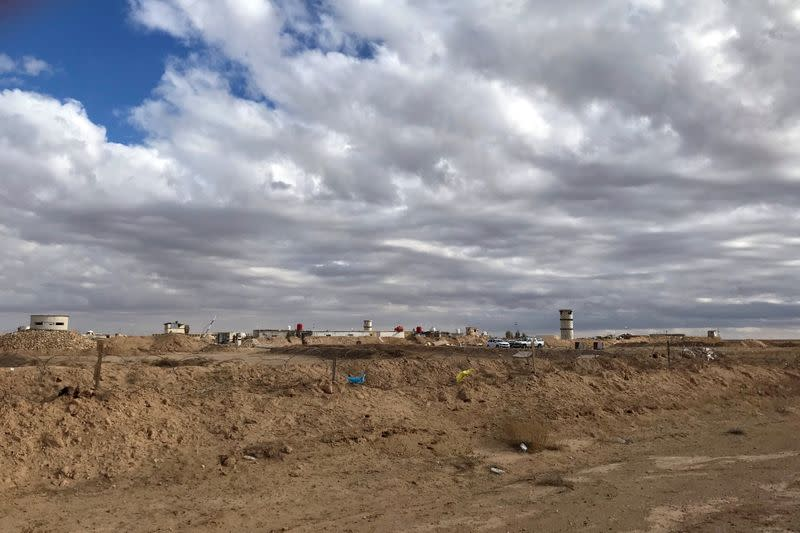 A view shows an Iraqi military border outpost along the frontier with eastern Syria