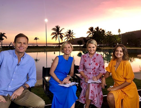 The Today lineup as of April 2019: co-hosts Deborah Knight and Georgie Gardner with Tom Steinfort and Brooke Boney. Photo: Instagram/thetodayshow.