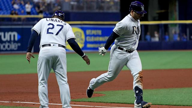 A win over the Kansas City Royals saw the Tampa Bay Rays snap a four-game losing streak in MLB.