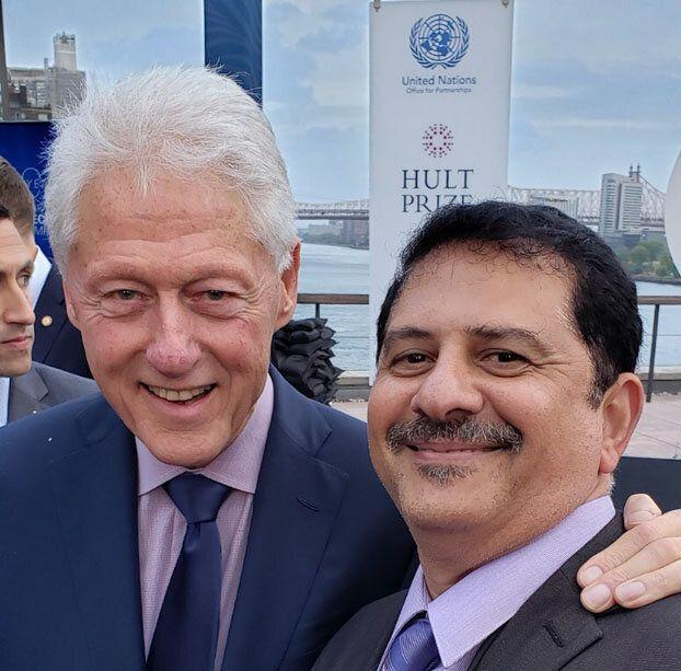 At U.N. headquarters,Maher oversaw lunches for high-level leaders, including former U.S. President Bill Clinton. (Photo: Courtesy of Mohamed Maher)