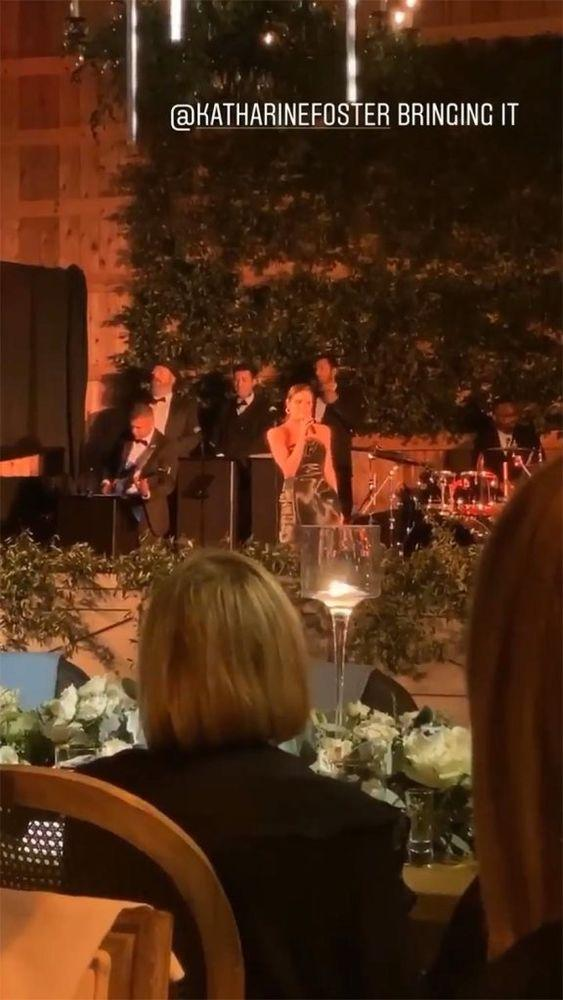 Katherine McPhee performing at Erin Foster's wedding | Charles Porch/Instagram