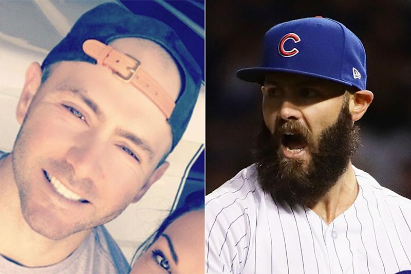 Boy shaves his beard male models picture for Jake arrieta tattoo