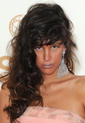 This messy bed head look didn't do Paz de la Huerta any favors at the 2011 awards. (Photo by Jordan Strauss/WireImage)
