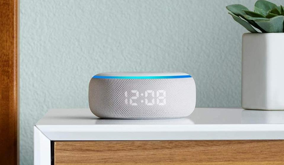 It's a clock, a speaker, a piece of cool home decor, and a dessert topping (JK). (Photo: Amazon)