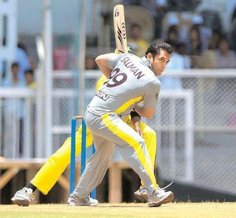 Salman Khan playing in a charity match (file pic: dailymotion.com)