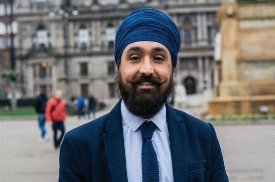 Charandeep Singh runs a food bank for the vulnerable in Scotland