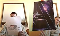 """<p><span><span>This is more of a PR stunt than spoiler but a fun one to boot. </span><span>The actor did on Instagram live unveiling of the </span></span><em><span><span>Infinity War</span></span></em><span><span> posters, sent to him by fellow spoiler Mark Ruffalo, though after revealing the image he found a note saying """"CONFIDENTIAL DO NOT SHARE.""""</span></span> </p>"""