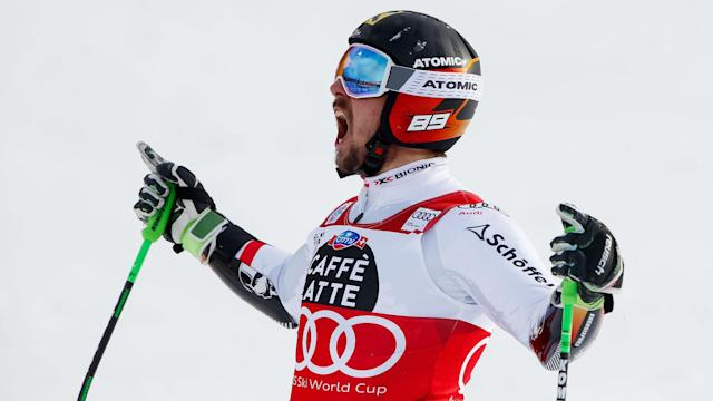 Alberto Tomba's Alpine Skiing World Cup record was surpassed on Sunday as Marcel Hirscher made it five giant slalom wins at Alta Badia.