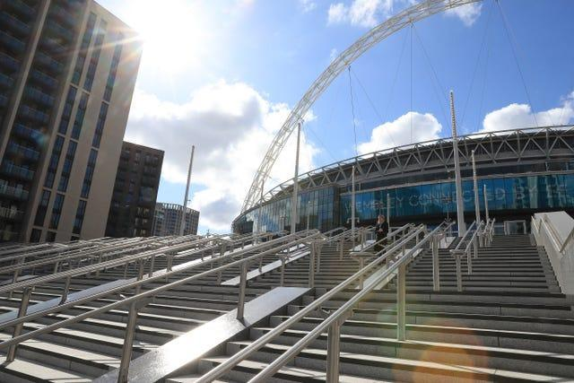 A view outside Wembley Stadium