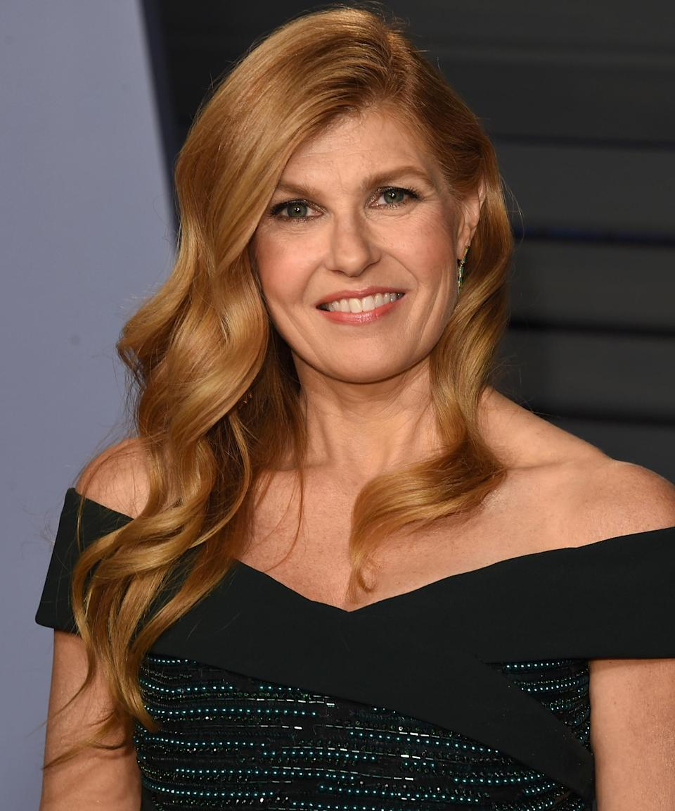 """<strong><h2>Connie Britton</h2></strong>This strawberry-blonde color might not be Britton's by birth, but it looks so good, it might as well be. The <em>Dirty John</em> actress revealed to <em><a href=""""https://www.southernliving.com/fashion-beauty/hairstyles/connie-britton-hair-products"""" rel=""""nofollow noopener"""" target=""""_blank"""" data-ylk=""""slk:Southern Living"""" class=""""link rapid-noclick-resp"""">Southern Living</a></em> that her roots are actually a """"mousey brown.""""<span class=""""copyright"""">Photo: J. Merritt/Getty Images.</span>"""