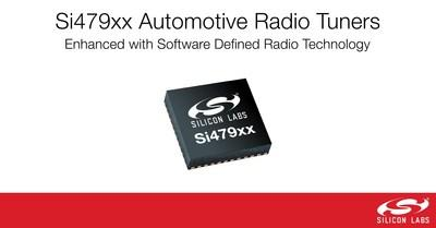 Silicon Labs enhances Si479xx automotive tuner family with software-defined radio (SDR) technology.