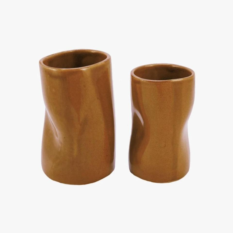 """Make your a.m. coffee ritual all the better with The Fore's sculptural mugs. $13, THE FORE. <a href=""""https://www.thefore.com/collections/ceramics/products/the-mug-in-tiger-eye"""" rel=""""nofollow noopener"""" target=""""_blank"""" data-ylk=""""slk:Get it now!"""" class=""""link rapid-noclick-resp"""">Get it now!</a>"""