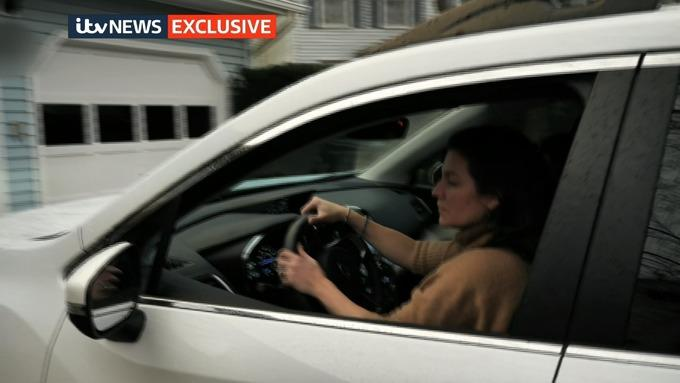 Anne Sacoolas pictured behind the wheel. (ITV News)