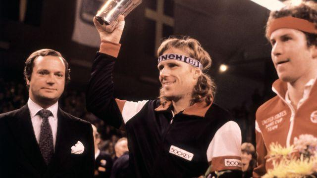 Borg and McEnroe in 1980. Image: Getty