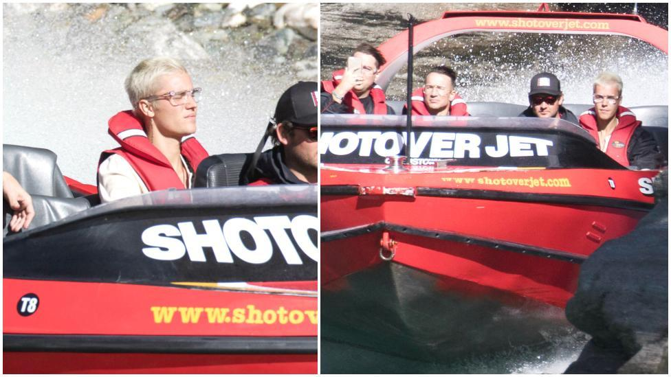 Despite booking a private speedboat session in Queenstown for two friends and himself, it appears Bieber didn't enjoy his company. wither that or he just wasn't thrilled by the boat-ride whatsoever!