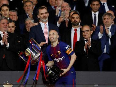 Andres Iniesta hinted he may have played his last final for Barcelona after they crushed Sevilla 5-0 to win the Copa del Rey on Saturday.